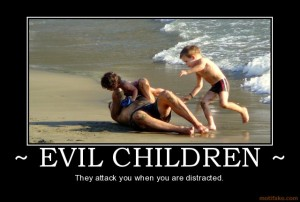 Childrenmotivational Posters on Children Evil Children Attack Distracted Rnr Demotivational Poster