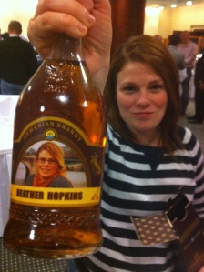 Booze with my face on it? Um, AWESOME.