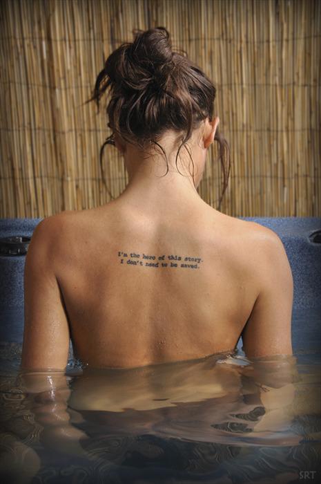 Тату надписи на спине - tattoohacom